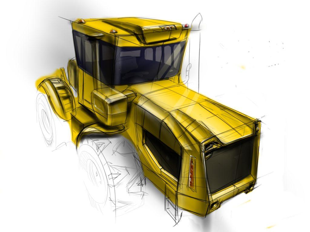 Новый дизайн трактора Кировец